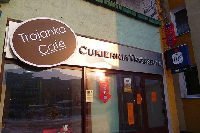 Neony Warszawa Cukiernia Trojanka